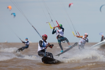 Dominican Republic and Germany take the Lead in Youth Olympic's Kiteboarding Event.