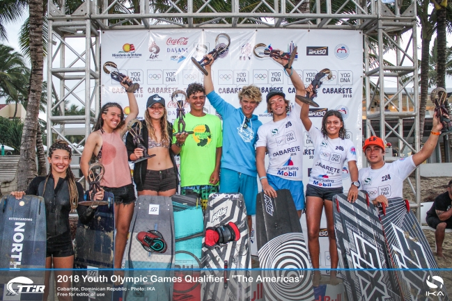 Antigua, Brazil, Dominican Republic and Venezuela win first direct qualifier spots for Kiteboarding Youth Olmypics in perfect Cabarete conditions